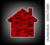 home icon. vector. icon with...   Shutterstock .eps vector #1044171085