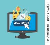 viral content design | Shutterstock .eps vector #1044171367
