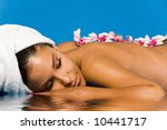 beautiful woman on massage table | Shutterstock . vector #10441717