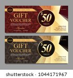 voucher template with red and... | Shutterstock .eps vector #1044171967