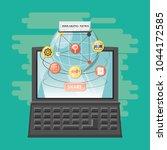 viral content design | Shutterstock .eps vector #1044172585