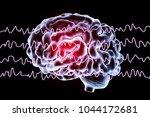 eeg electroencephalogram  brain ... | Shutterstock . vector #1044172681