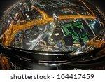 panorama of down town dubai... | Shutterstock . vector #104417459