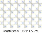 colorful kaleidoscopic tiles... | Shutterstock . vector #1044177391