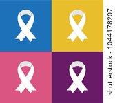 white awareness ribbons on... | Shutterstock .eps vector #1044178207