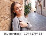 portrait of beautiful teenager... | Shutterstock . vector #1044179485