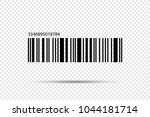 realistic barcode icon isolated.... | Shutterstock .eps vector #1044181714