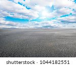asphalt road and sky cloud... | Shutterstock . vector #1044182551