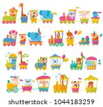 cartoon set with different... | Shutterstock .eps vector #1044183259
