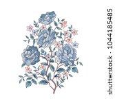 floral background. flower... | Shutterstock .eps vector #1044185485