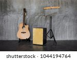 folksong band acoustic guitar ... | Shutterstock . vector #1044194764