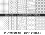 collection of seamless... | Shutterstock .eps vector #1044198667