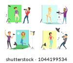 models male and female posing... | Shutterstock .eps vector #1044199534