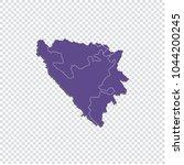 bosnia herzegovina regions map  ...   Shutterstock .eps vector #1044200245