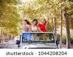 girlfriends standing in the... | Shutterstock . vector #1044208204