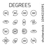degrees related vector icon set....