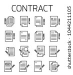 contract related vector icon... | Shutterstock .eps vector #1044211105