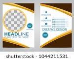 business brochure flyer design... | Shutterstock .eps vector #1044211531