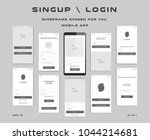 10 in 1 ui kits. wireframes... | Shutterstock .eps vector #1044214681