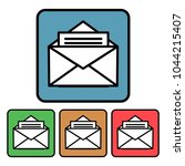 flat  square icon of an open...   Shutterstock .eps vector #1044215407