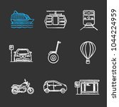 public transport chalk icons... | Shutterstock .eps vector #1044224959