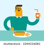 young caucasian white man... | Shutterstock .eps vector #1044226081