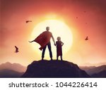 happy loving family. father and ... | Shutterstock . vector #1044226414