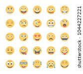 smiley flat icons set 9 | Shutterstock .eps vector #1044227221