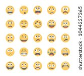 smiley flat icons set 12 | Shutterstock .eps vector #1044227365