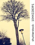 old style street lantern | Shutterstock . vector #1044228391