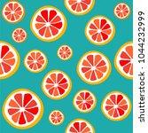 seamless pattern grapefruit    Shutterstock .eps vector #1044232999