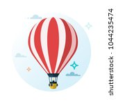 Hot Air Balloon. Flat Cartoon...