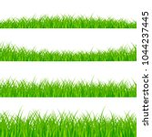 grass borders set. grass plant... | Shutterstock .eps vector #1044237445