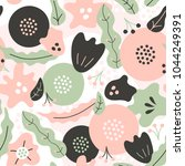 simple seamless pattern with... | Shutterstock .eps vector #1044249391