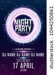 flyer for night dance party.... | Shutterstock .eps vector #1044250861