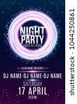 flyer for night dance party.... | Shutterstock .eps vector #1044250861
