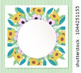 flower birthday greeting card | Shutterstock .eps vector #1044251155