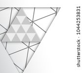abstract triangle shape... | Shutterstock .eps vector #1044253831
