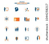 business training icon set | Shutterstock .eps vector #1044258217