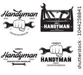 handyman labels badges emblems... | Shutterstock .eps vector #1044258841