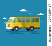 bus. flat design. | Shutterstock .eps vector #1044259417