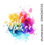 multicolored splash watercolor... | Shutterstock .eps vector #1044260131