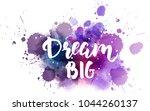 dream big hand lettering phrase ...