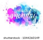 hello monday hand lettering... | Shutterstock .eps vector #1044260149