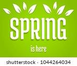 spring is here  green banner... | Shutterstock .eps vector #1044264034
