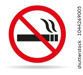 no smoking sign on white... | Shutterstock .eps vector #1044269005
