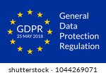 gdpr banner. general data... | Shutterstock .eps vector #1044269071