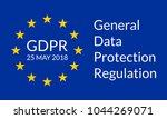 gdpr banner. general data... | Shutterstock .eps vector #1044269071