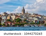 istanbul city skyline in turkey ... | Shutterstock . vector #1044270265