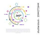 linear banner concept. 360... | Shutterstock .eps vector #1044272644